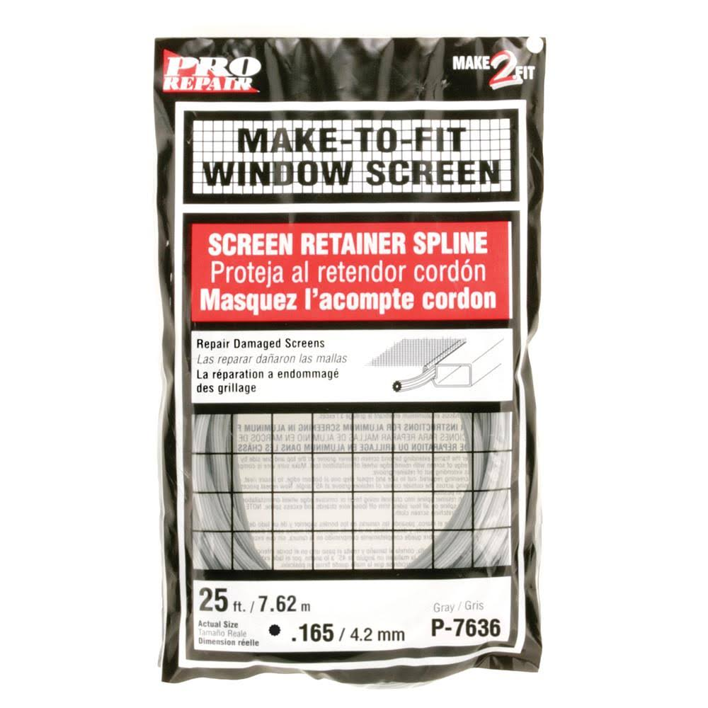 "Prime-Line Products Screen Retainer Spline - 0.165"", 25', Gray"