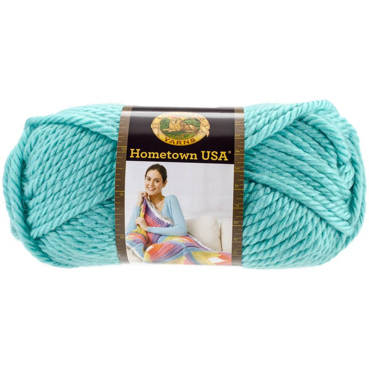 Lion Brand Hometown USA Yarn - Miami Seafoam
