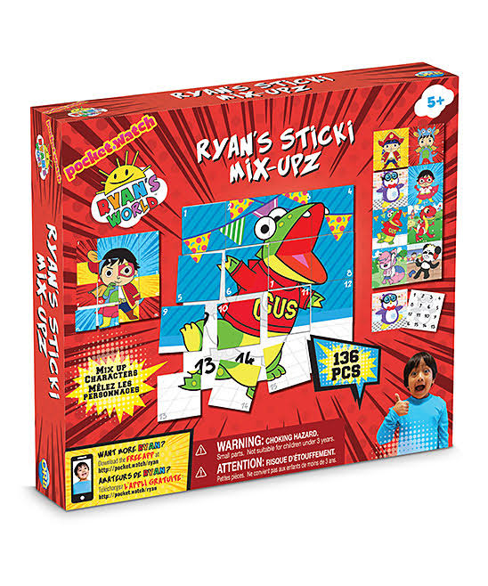 Ryans World Sticki Mix Upz - 136pcs, Ages 5 and Up