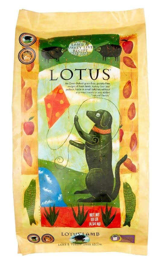 Lotus Grain-Free Lamb & Turkey Liver Recipe Dry Dog Food, 20 lb