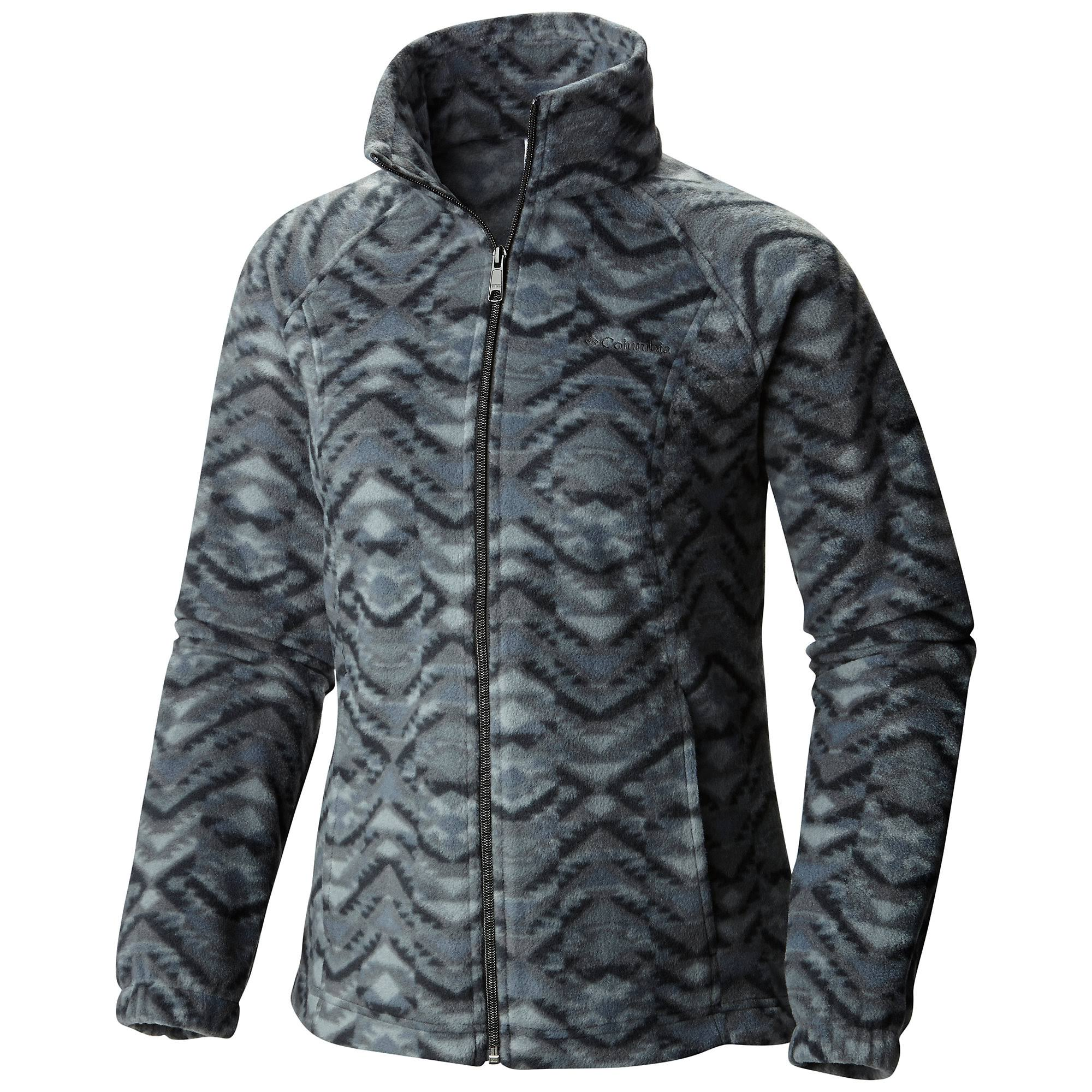 Columbia Women's Benton Springs Printed Full Zip Jacket - L - Black Navajo Print