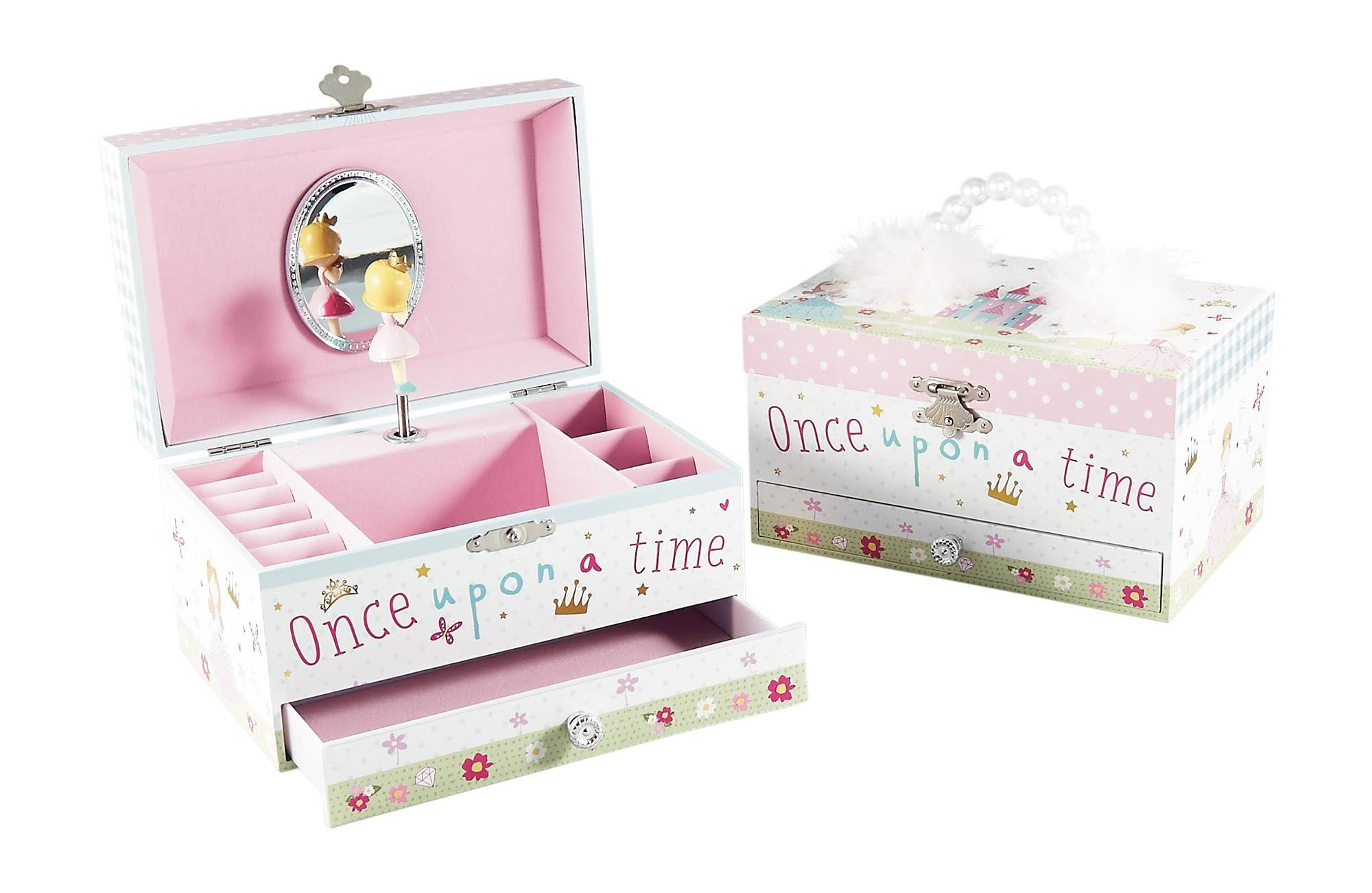 Rock and Floss Princess Feather Musical Jewelry Box
