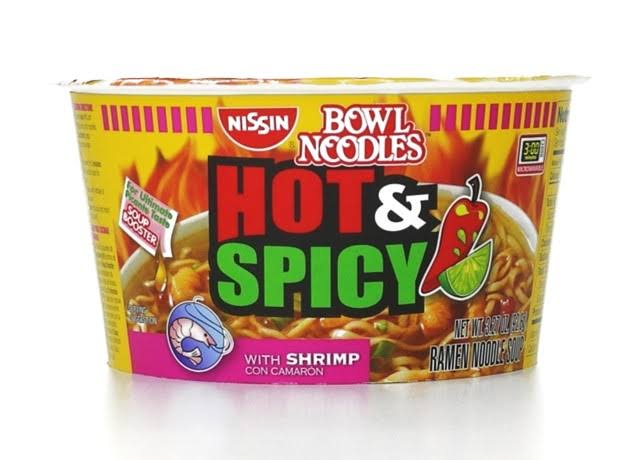 Nissin Bowl Noodles Hot & Spicy with Shrimp Ramen Noodle Soup - 3.27oz