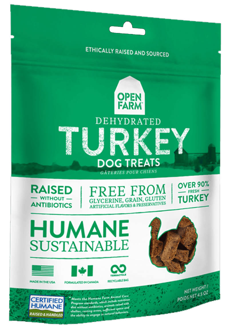 Open Farm Dog Treat - Dehydrated Turkey, 127g