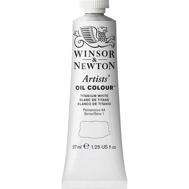 Winsor & Newton Artists Oil Color Paint - Titanium White, 37ml