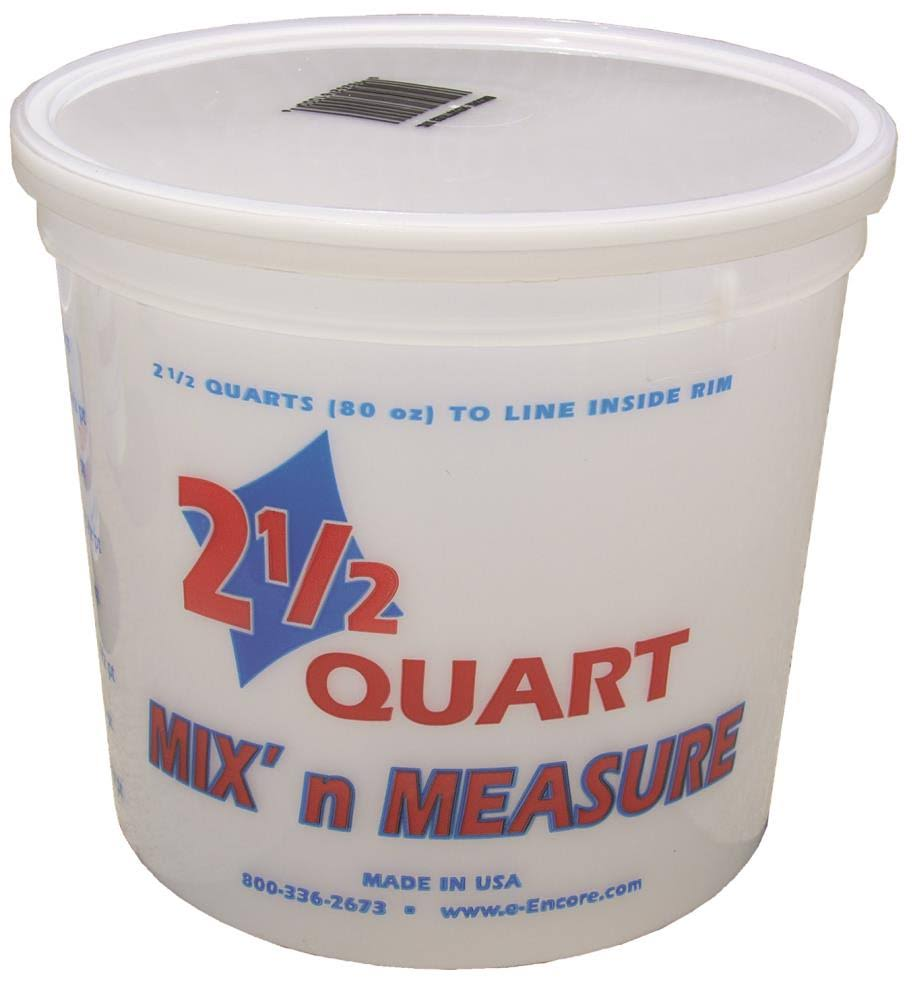 Encore Plastics Mix N Measure Plastic Container