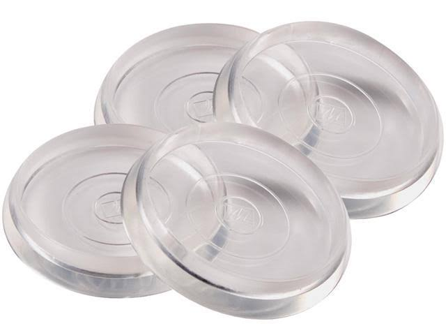 "Waxman Consumer Group 4679295N Round Caster Cups - 4ct, 1-3/8"", Clear"
