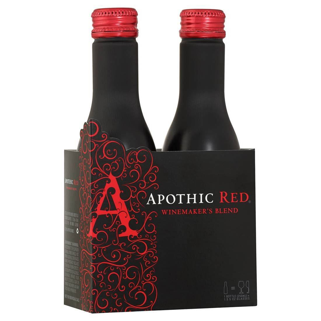 Apothic Red, Winemaker's Blend, California - 2 pack, 250 ml