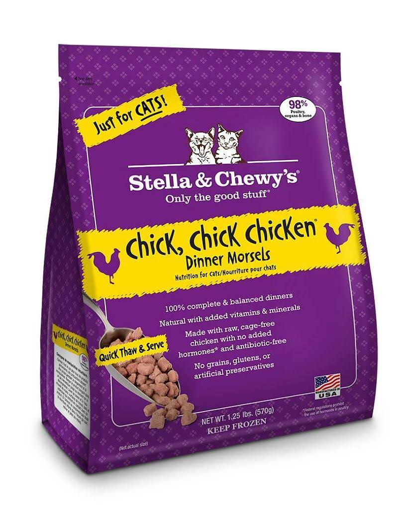 Stella and Chewy's Frozen Raw Chicken Morsels Cat Food - 1.25lb