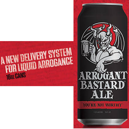 Stone Brewing Arrogant Bastard Ale - 16 fl oz can