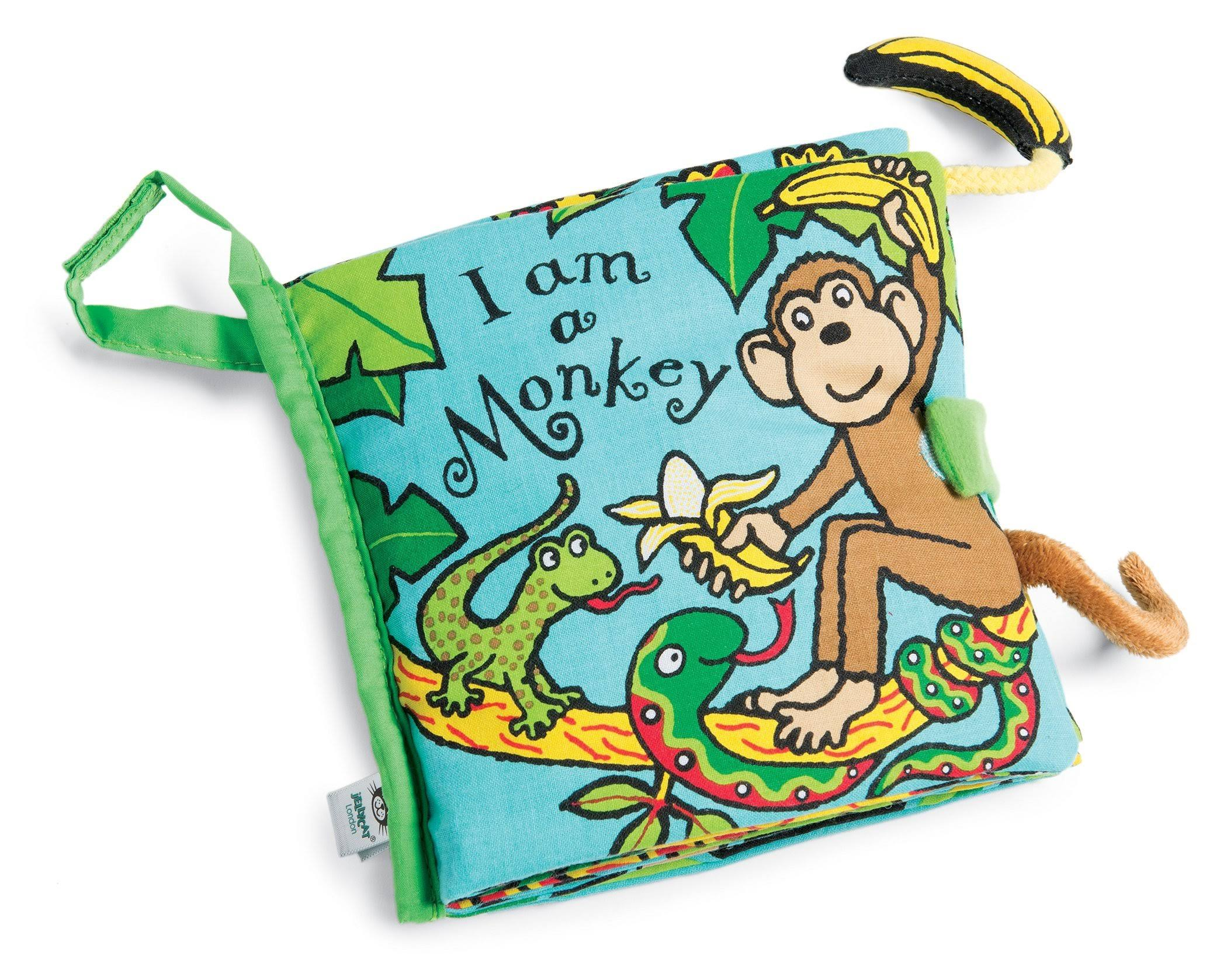 Jellycat Soft Book: I Am a Monkey