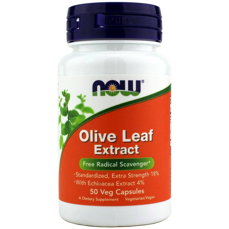 Now Foods Olive Leaf Extract Supplement - 50 Count