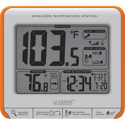 La Crosse Technology 308179OR Wireless Temperature Station - White