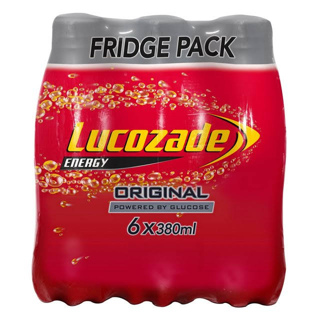 Lucozade Energy Drink - Original, 6 x 380ml
