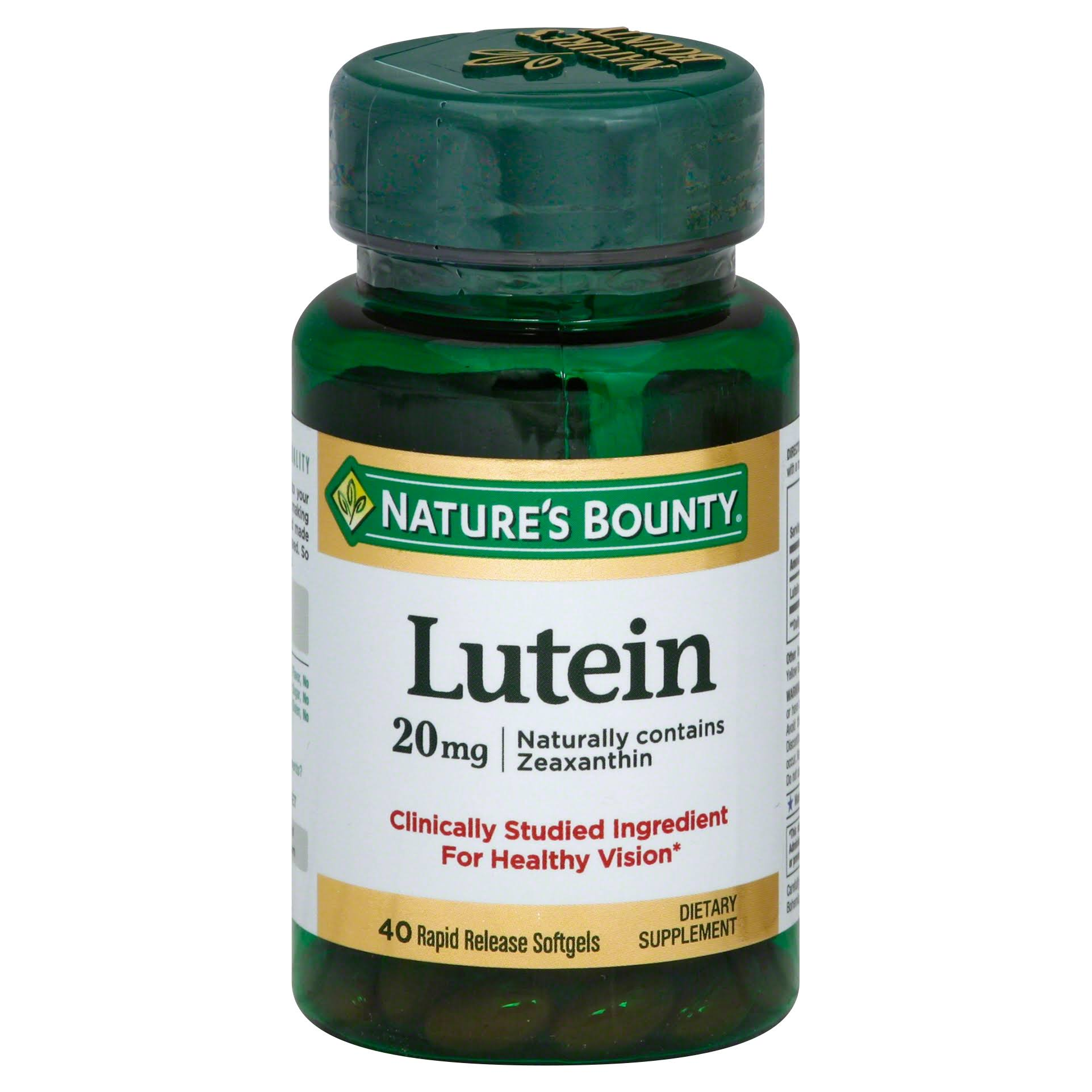 Nature's Bounty Lutein Supplement - 40 Softgels