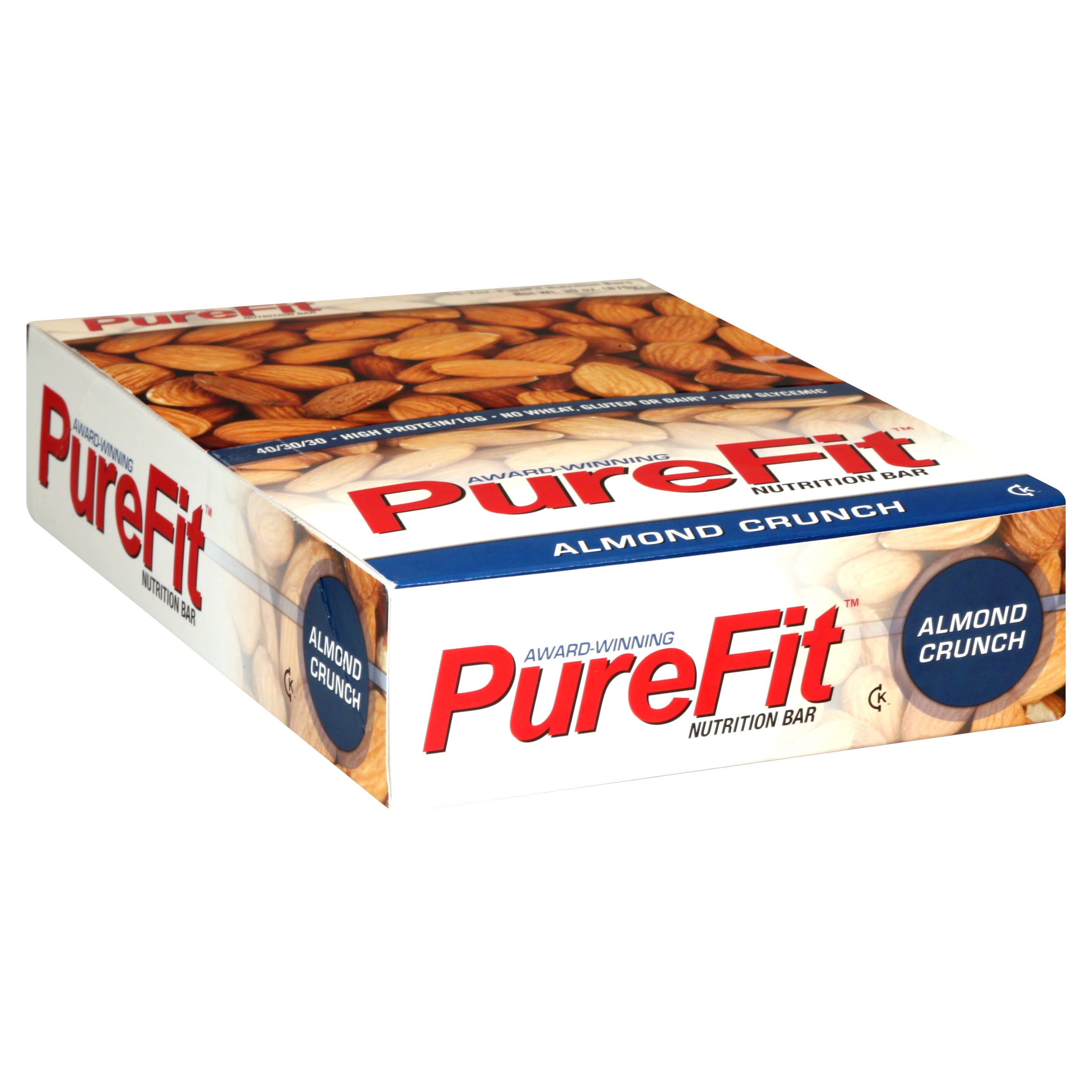 PureFit Gluten-Free Nutrition Bars - Almond Crunch, 2oz, 15pcs