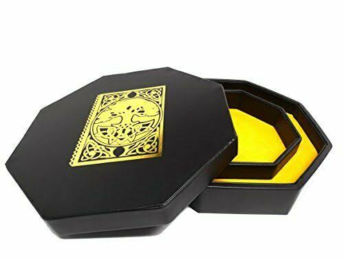 Ybs Spell Book Dice Tray with Dice Staging Area and Lid