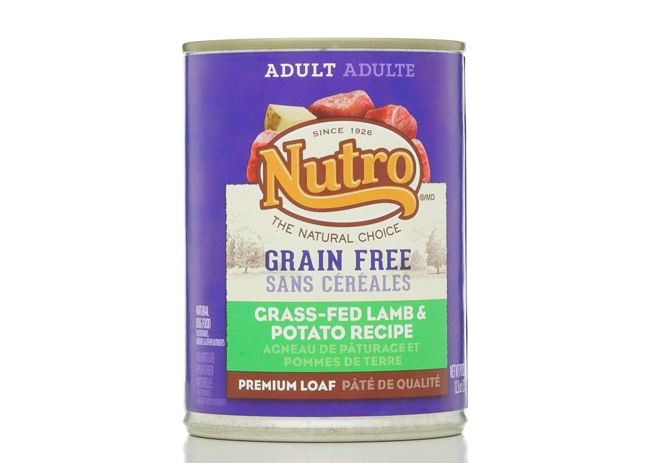 Nutro 50411593 Grain Canned Dog Food - Grass Fed Lamb & Potato Recipe, 12.5oz