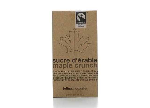 Jelina Chocolatier Milk Chocolate, Maple Crunch - 3.35 oz