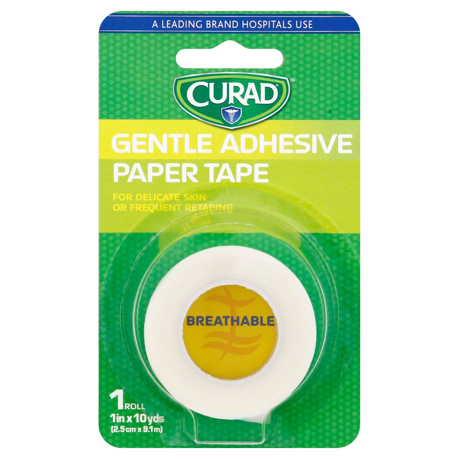 "Curad Gentle Adhesive Paper Tape - 1"" x 10yds"