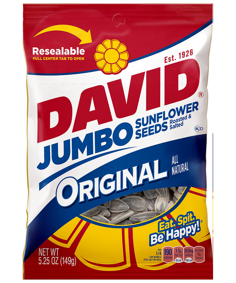 David Jumbo Sunflower Seeds - Original, 5.25oz