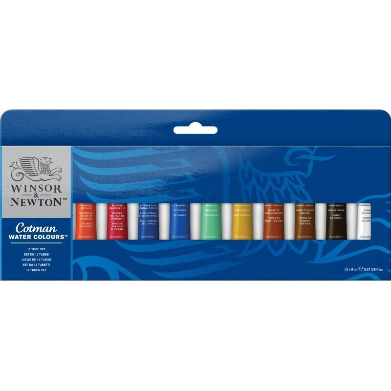Winsor and Newton Cotman Water Color Set - Set of 12