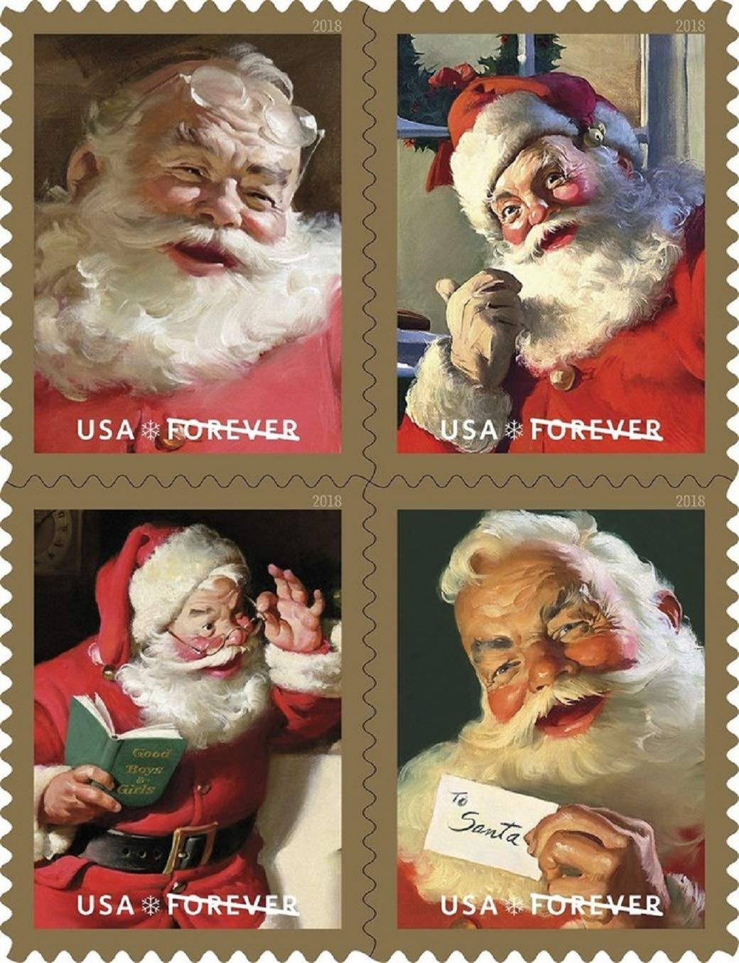 USPS Forever Stamps: Sparkling Holidays - Booklet of 20 Stamps