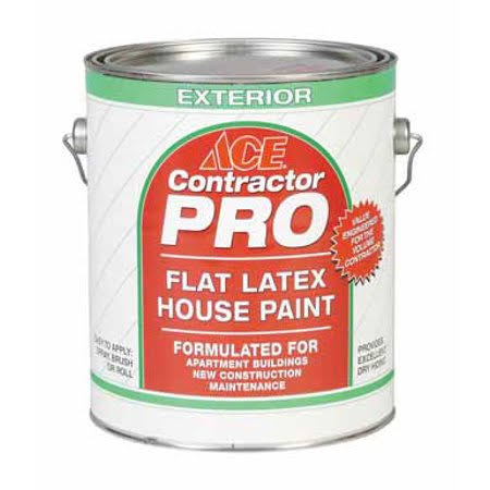 Ace Contractor Pro Exterior Latex Flat House Paint - 1gl
