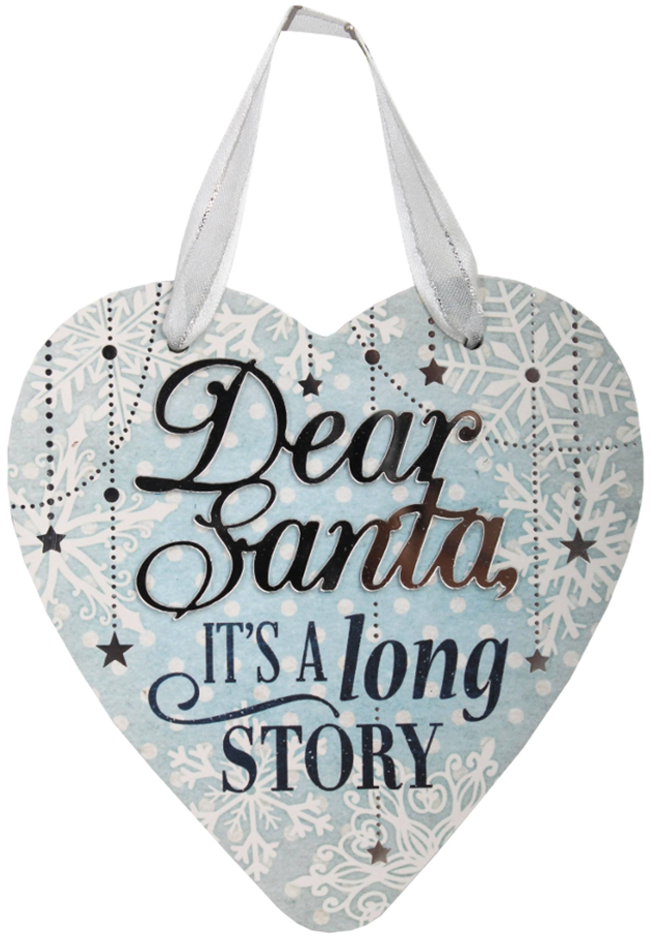 H&H 'Dear Santa'Festive Words Hanging Plaque - Gift Horse Online