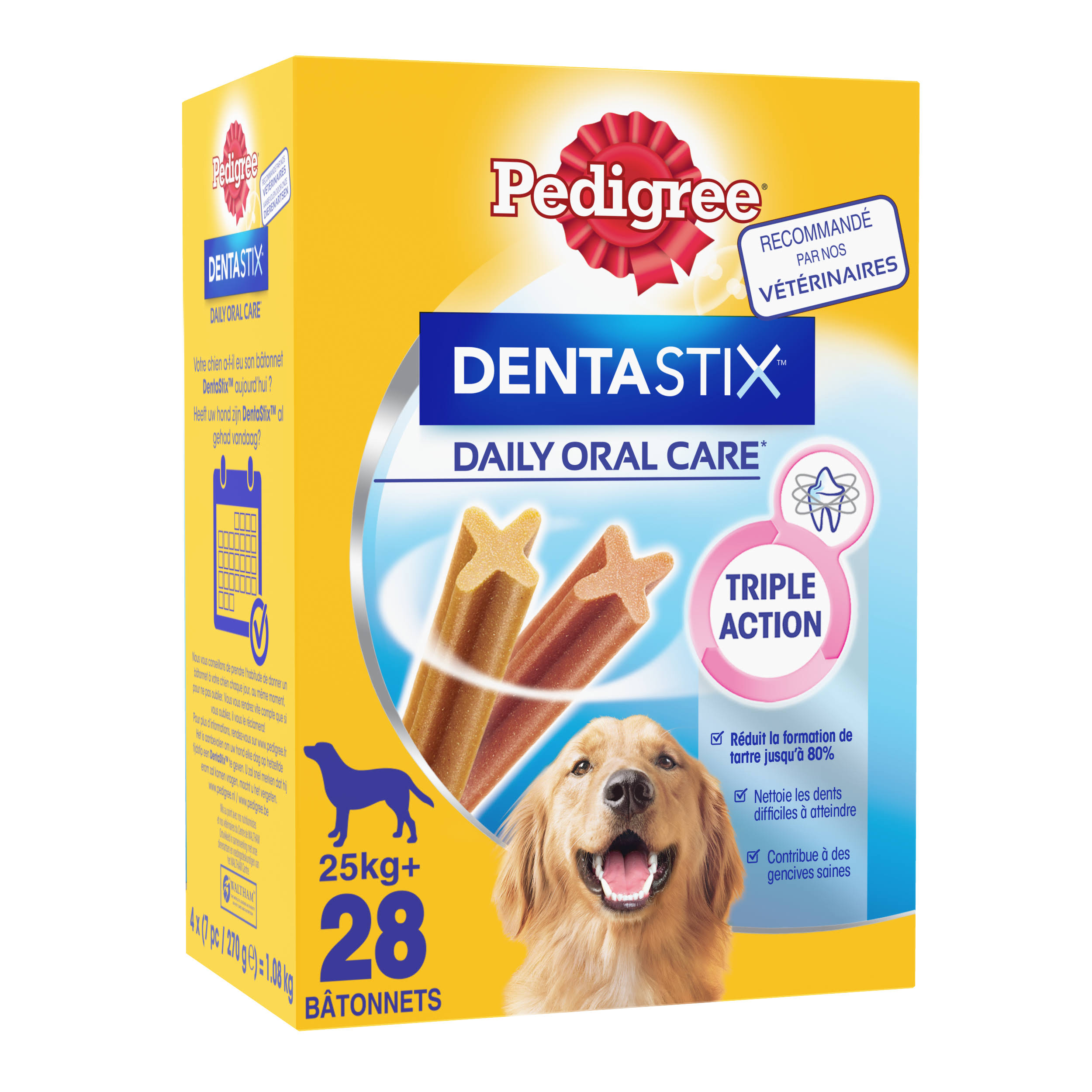 Pedigree Dentastix Daily Adult 1+ Large Dog Dental Chews - 28 Sticks