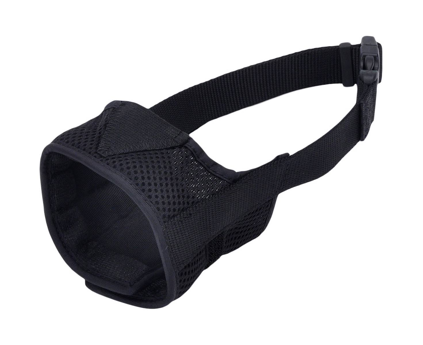 Best Fit Adjustable Comfort Dog Muzzle - Black, Snout Size 6.5""