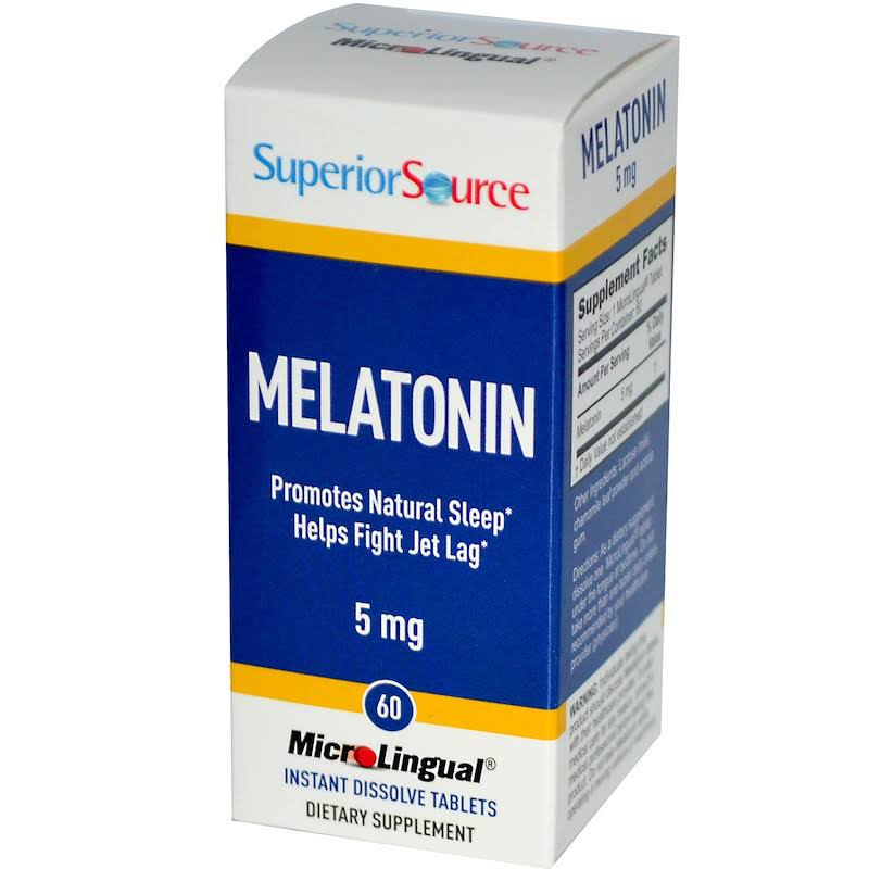 Superior Source Melatonin Supplement - 60 Tablets