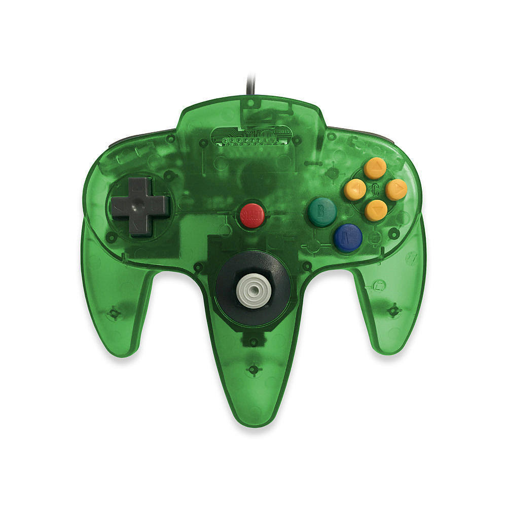 Skool Classic Wired Controller Joystick for Nintendo 64 N64 Game System - Jungle Green