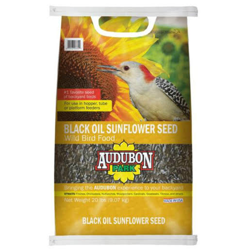Audubon Park 10427 Black Oil Sunflower Seed - 20lbs