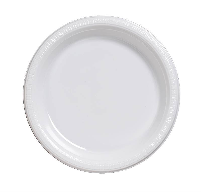 Creative Converting Touch of Color Plastic Banquet Plates - White, 20ct