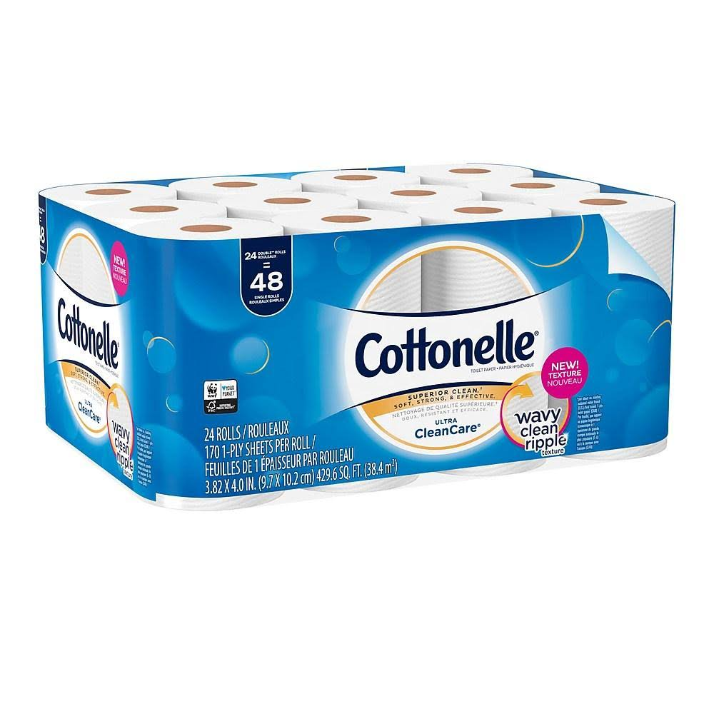Cottonelle Ultra Clean Care Double Roll Toilet Paper 24 Count