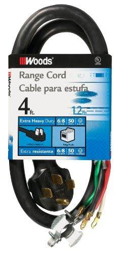 Woods 50-Amp Range Appliance Power Supply Cord