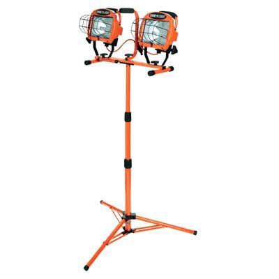 Twin Head Halogen Tripod Work Light - with 5' Cord, 1000W