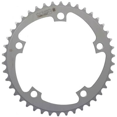 Origin8 Alloy Blade Chainring - Silver, 130mm x 42T, 5 Bolt