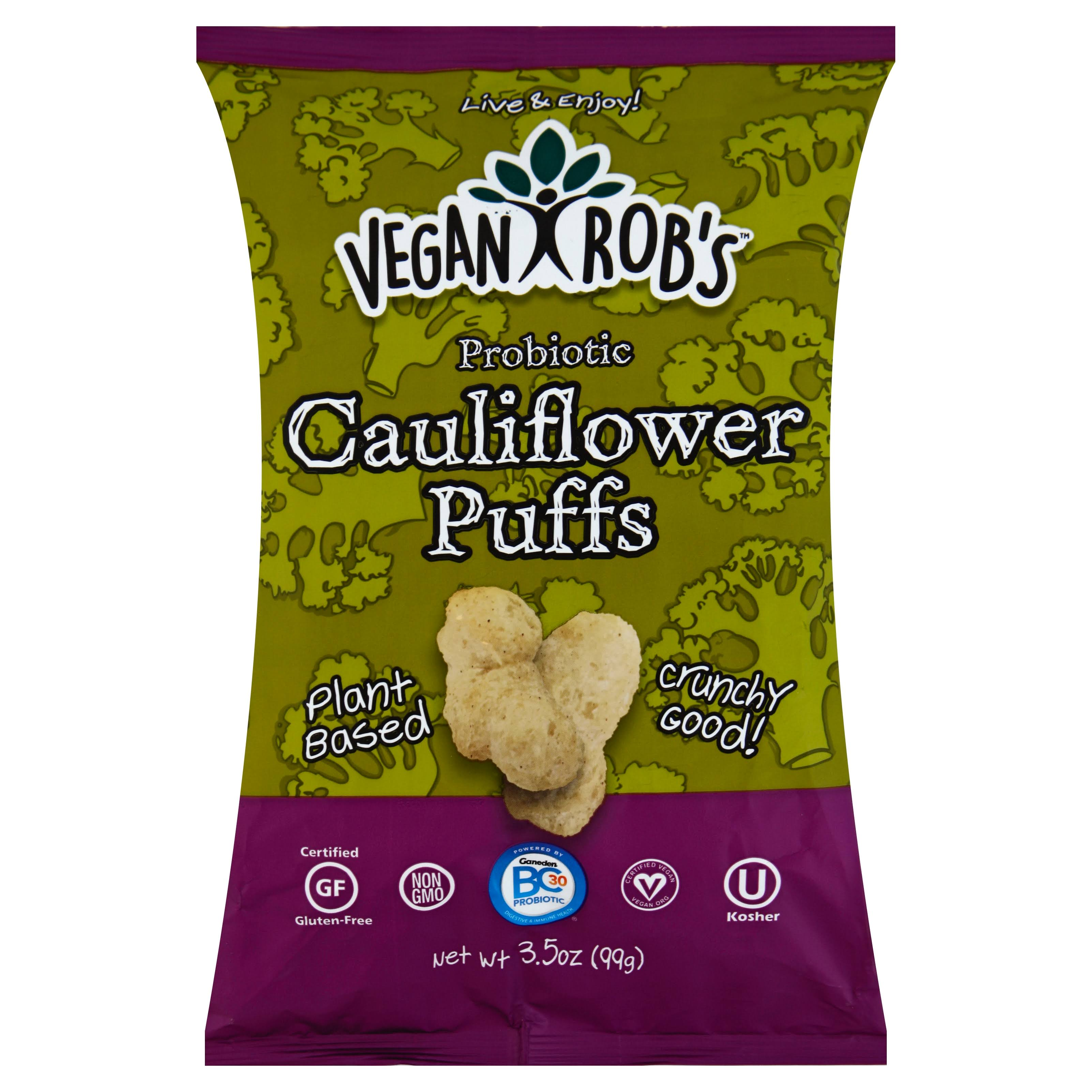 Vegan Robs Cauliflower Puffs, Probiotic - 3.5 oz