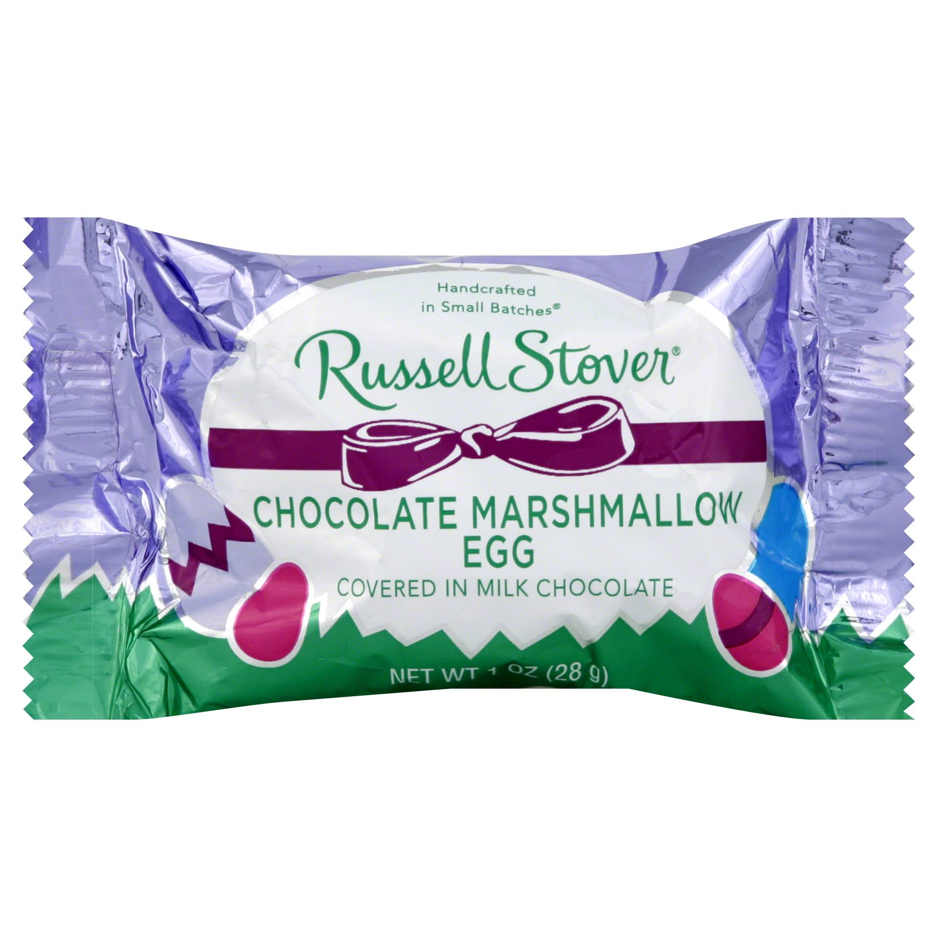 Russell Stover Marshmallow Egg, Chocolate - 1 oz