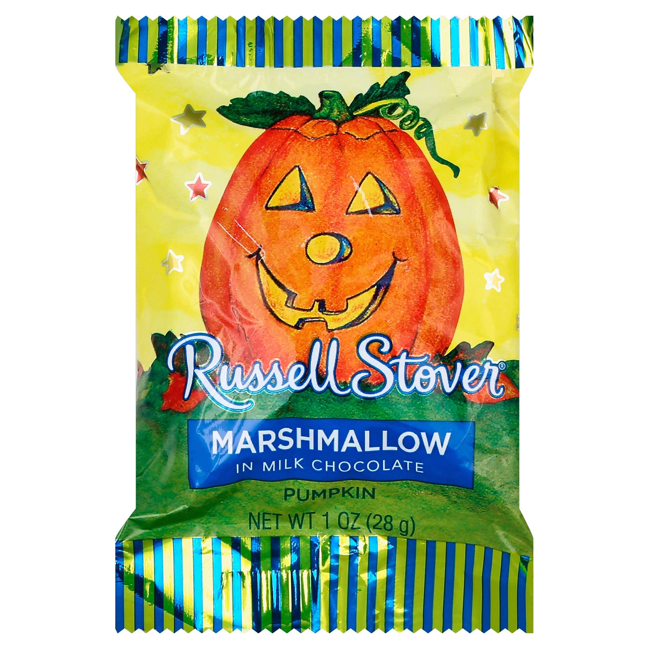 Russell Stover Marshmallow in Milk Chocolate Pumpkin