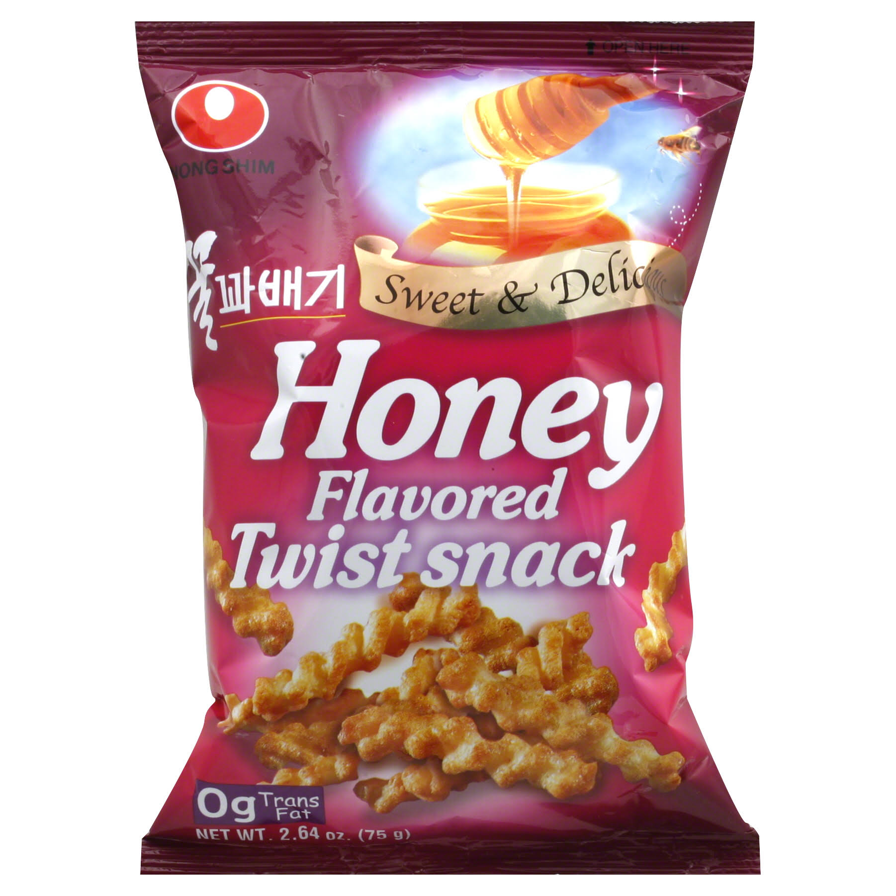 Nong Shim Twist Snack - Honey, 2.64oz