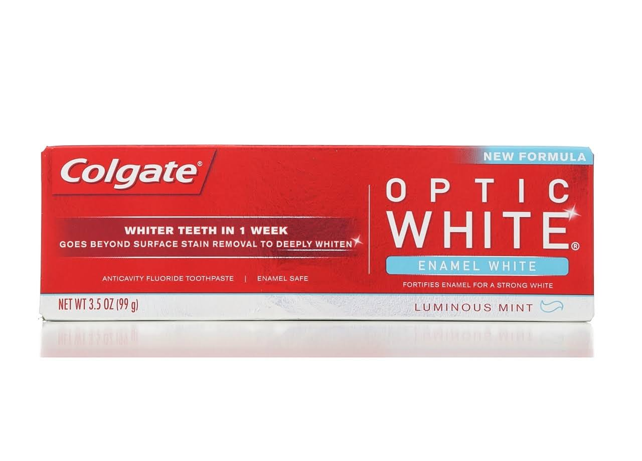 Colgate Optic White Anticavity Fluoride Toothpaste - 3.5oz