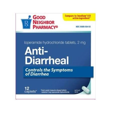 Good Neighbor Pharmacy GNP Antidiarrheal 12 Caplets