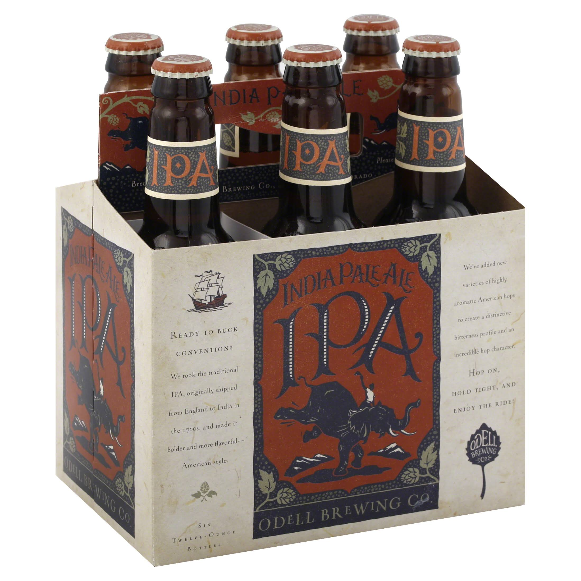 Odell Brewing Ale, India Pale - 6 pack, 12 oz bottles