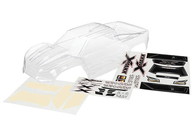 Traxxas 7711 RC Vehicle Clear X Maxx Body - with Decal Sheet