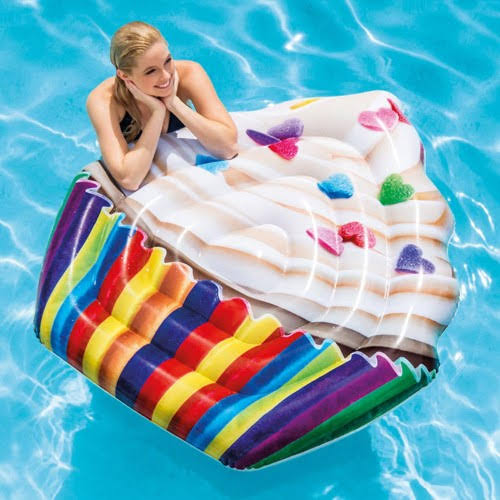 "Intex Inflatable Cupcake Mattress Pool Float - 56"" x 53"""