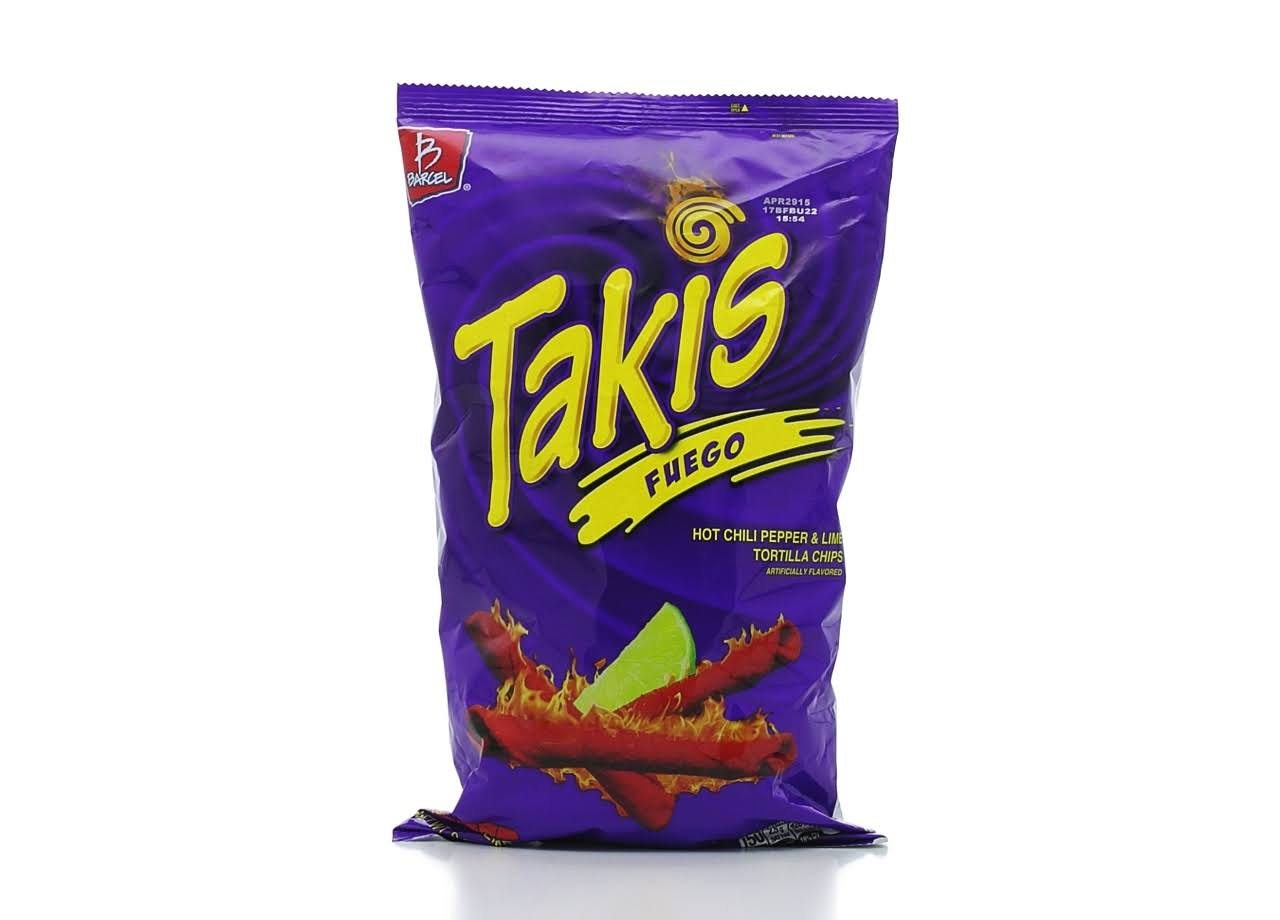 Barcel Takis Fuego Rolled Tortilla Chips - Hot Chili Pepper and Lime, 9.9oz