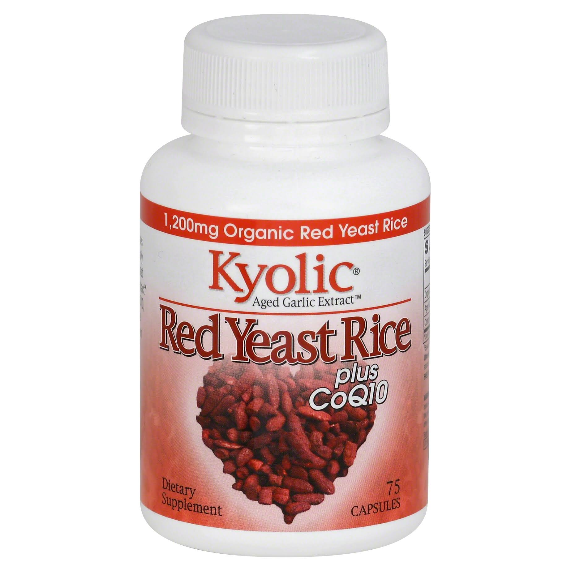 Wakunaga Kyolic Total Aged Garlic Extract Coq10 Dietary Supplement - 75ct